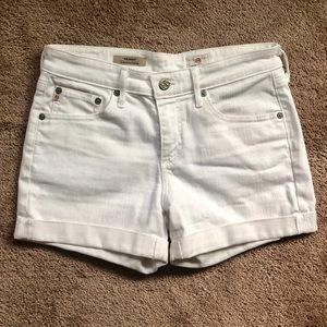 White Denim AG shorts, Size 26. Retails for $158+